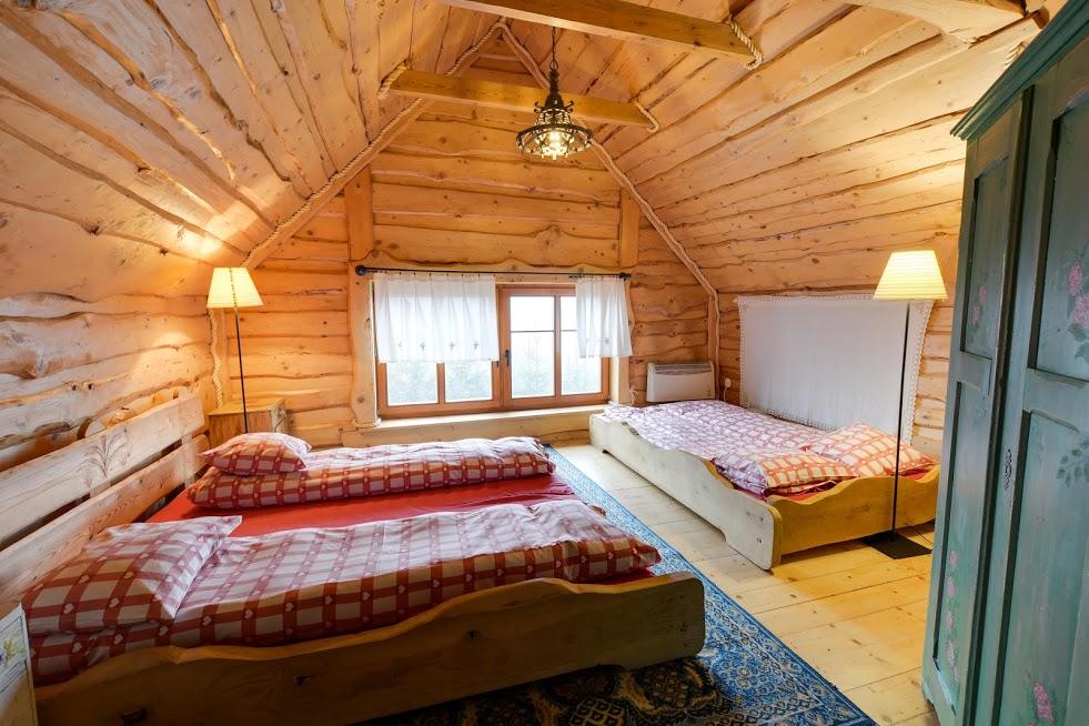 Sypialnia AKADEMIKiem zwana w Nowakówce.